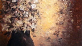 Цветы в коричневых тонах