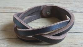 Кожаный браслет ′Головоломка′