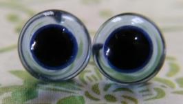 Глаза Светло-голубой «6 мм» для мишек