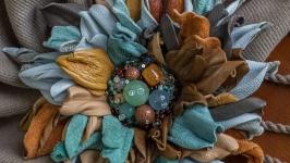Брошь ручной работы «MaryS Leather Accessories», на заказ