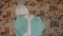 Детская кофточка с шапочкой.
