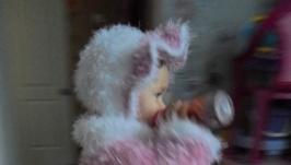 Детское пальто с шапочкой.