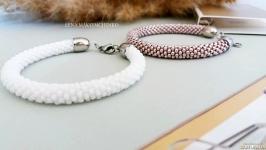 Комплект браслетов ′Pink ice′из японского бисера