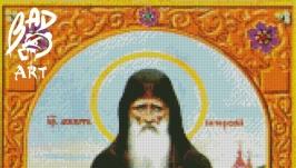 Схема для вышевки ′ Икона Агапит врач Печерский  ′