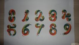 Развивающие картинки для детей. Цветные креативные цифры