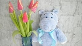 Plush blue hippo