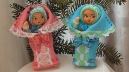 елочная игрушка кукла ′ малыш!′