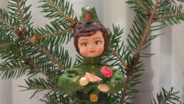 елочная игрушка кукла′ Письмо на фронте′