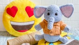 Плюшевый Слоненок ручной работы