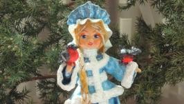 елочная игрушка кукла ′Снегурочка′