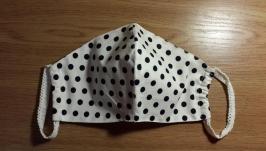 Тканевая маска многоразового использования′горох′