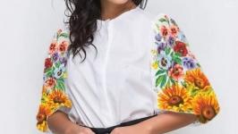 Блуза вышитая женская - Летняя