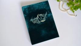 Бархатный фотоальбом зеленый, Весільний фотоальбом, Книга пожеланий