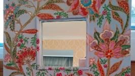 Рамочка с зеркальцем ′Экзотические цветы′