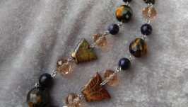 Бусы-цепочка с натуральными камнями