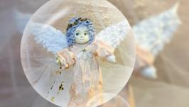 Ватная игрушка ангел 3. Cotton toy angel 3