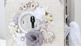 Большой свадебный фотоальбом ручной работы , свадебный альбом на заказ