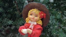 Елочная игрушка кукла ′ Зимние радости′