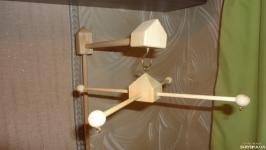 Набор: кронштейн-держатель и основа для детского мобиля. Сказочный замок