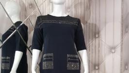 Красивое женское платье с карманами Plus Size