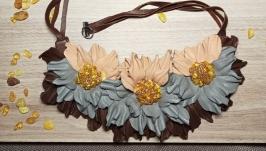 Колье и браслет с янтарем ′Вдохновение′