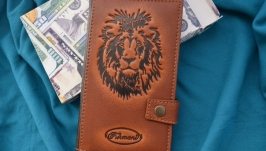Кожаный кошелек ′ЛЕВ′