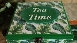 Чайна скринька ′Монстера′