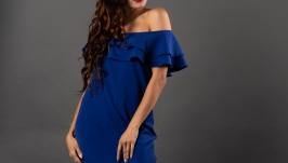 Кокетливое синее платье
