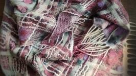 Шовково-вовняний шарф КАРТАТІ КВІТИ