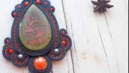 Сутажний кулон ′Цвіт папороті′