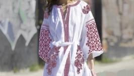 Платье с вышивкой - Бохо