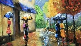 Абстракция,арт «Прогулки под дождем»