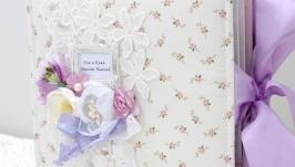 Свадебный альбом ручной работы , подарок на свадьбу или годовщину