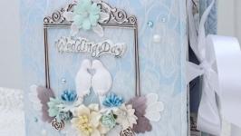 Свадебный фотоальбом ручной работы , подарок на свадьбу
