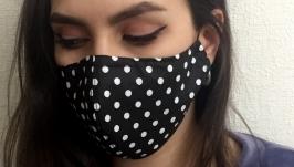 Защитная маска. Многоразовая. 100% хлопок.