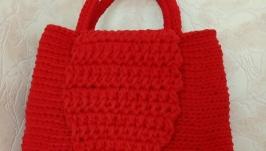 вязаная женская сумка