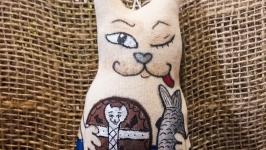 кофейная игрушка′Кот Байкальский,хитрый′