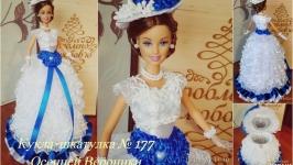 под заказ №177 кукла шкатулка подарок для прикрас или купюрница