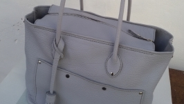 Bag, shopper, genuine leather, handmade.
