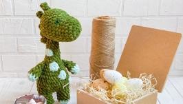 Плюшевый Динозавр ручной работы