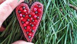 Брошка Серце