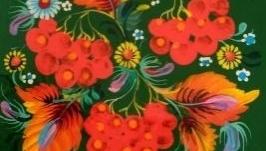 Дерев′яна таріль ′ Калиновий цвіт′