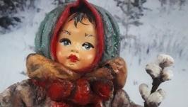 Іграшка новорічна ′Дівчинка з вербою′