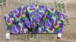Защитная маска многоразового использования ′тюльпаны фиолетовые′