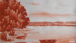 Пейзаж с лодкой 1  Landscape with a Boat 1