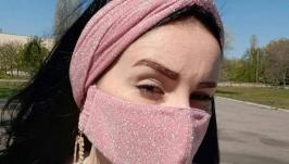 Комплект:защитная маска многоразовая  повязка на голову