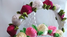 Ободок венок с цветами Венок из цветов для волос Розы крученные