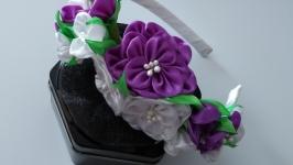Ободок венок с  цветами Венок из цветов для волос Сирень Корона из цветов