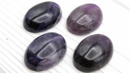 Кабошон аметист темный натуральный камень овал