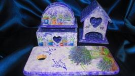 Набор для кухни ′Лавандовый′ в стиле Прованс- отличный подарок и декор